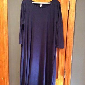 Zenana Premium Navy 3/4 Swing Dress